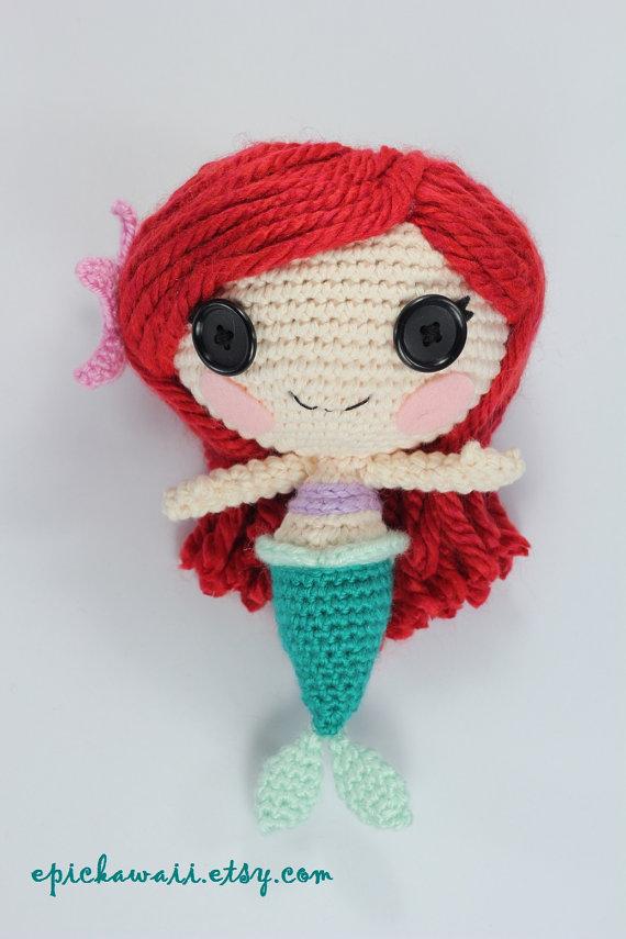 PATTERN: Mermaid Crochet Amigurumi Doll | Pinterest | Sirenitas ...