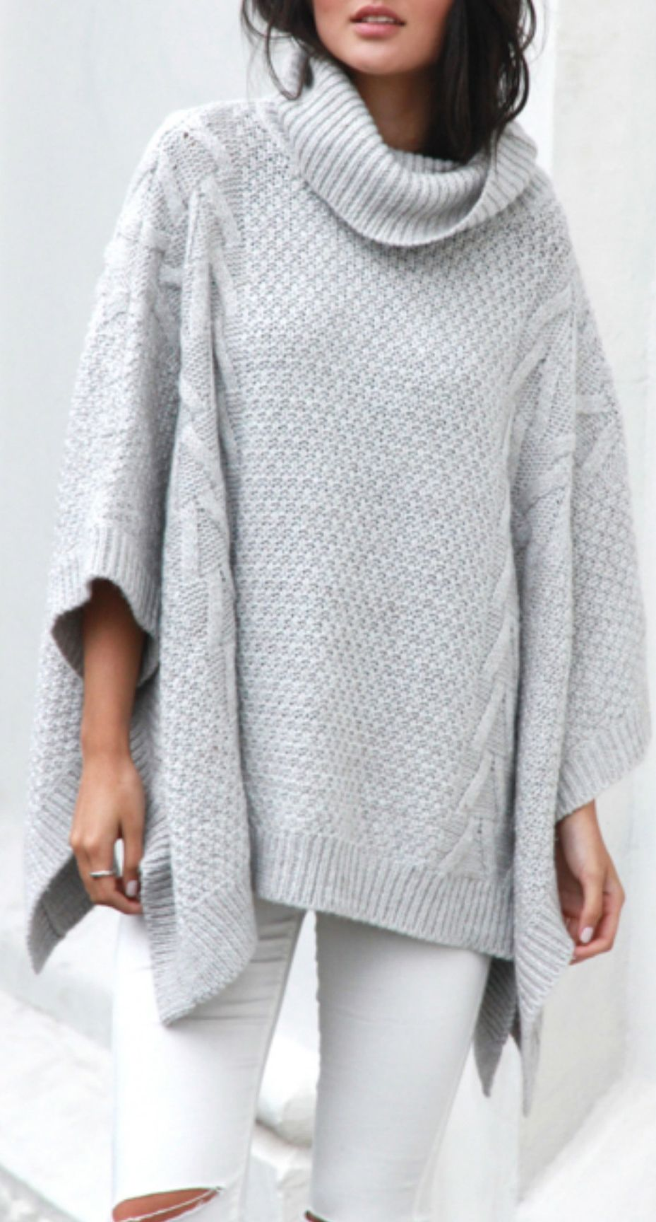 Cable knit poncho … | Knitted Ponchos | Knitt…