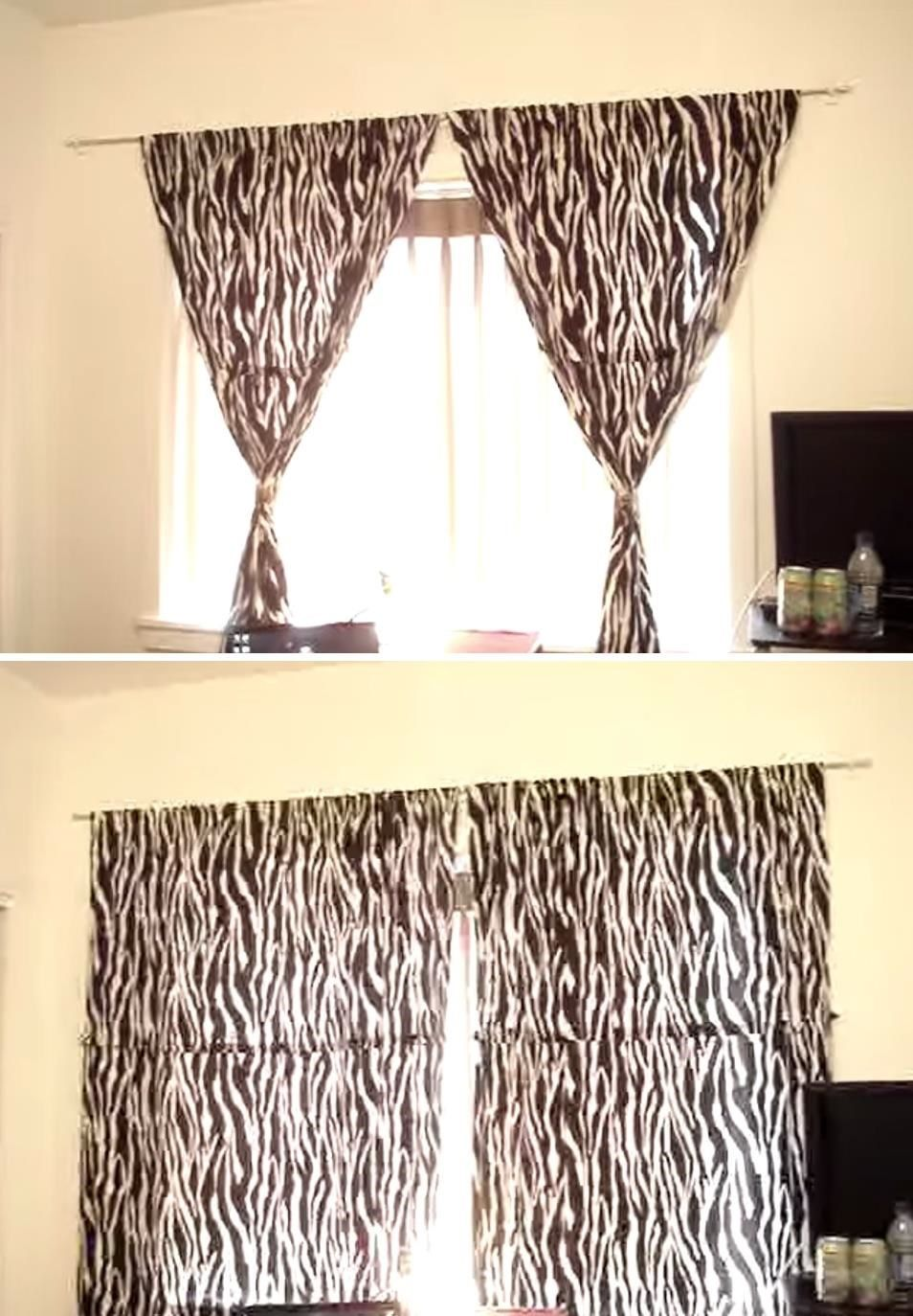 Hanging Curtains On Walls Without Windows How To Hang Curtains Without Making Holes In The Wall House