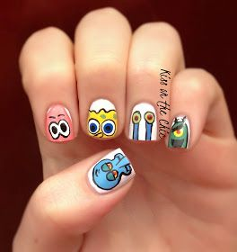 Spongebob Nails Pinterest Makeup Crazy Nail Designs And
