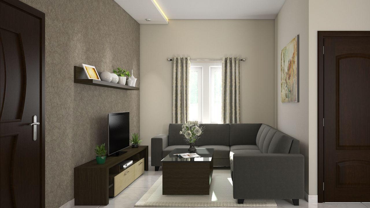 Simple Middle Class Living Room Interior Design Photo ...