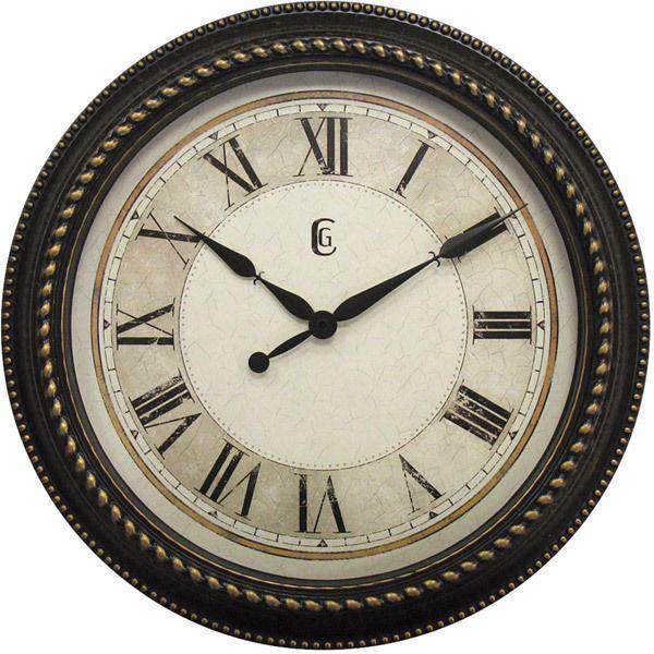 Geneva 16 Inch Wall Clock Quartz Battery Operated with Roman