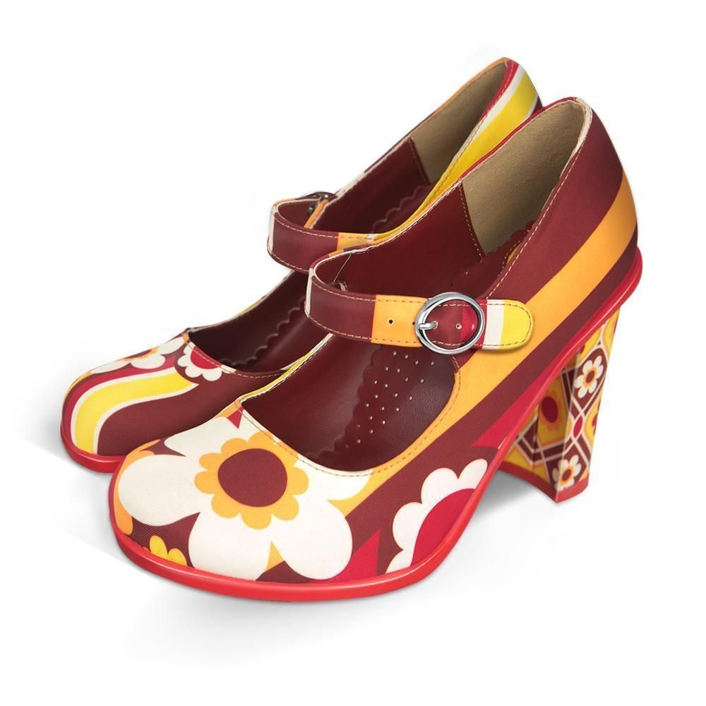 33bd97e3d3 Chocolaticas® High Heels 1970 Women s Mary Jane Pump Boty Na Jehlovém  Podpatku