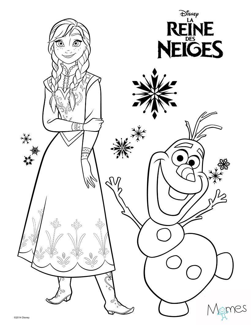 Top Coloriage Reine des Neiges : Anna et Olaf | Coloriage reine des  OT77