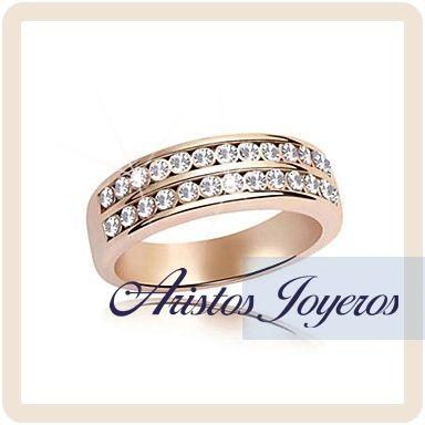 Banda de diamantes en 2 filas especial en #Rose Gold  www.aristos_joyeros.com
