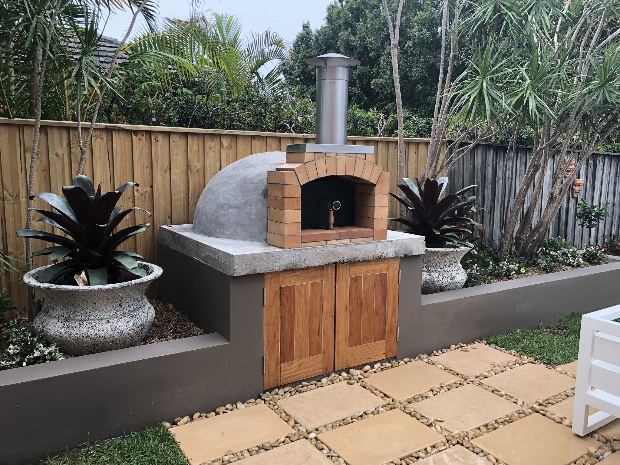 Volta alfresco woodfired pizza oven DIY kit Woodfired