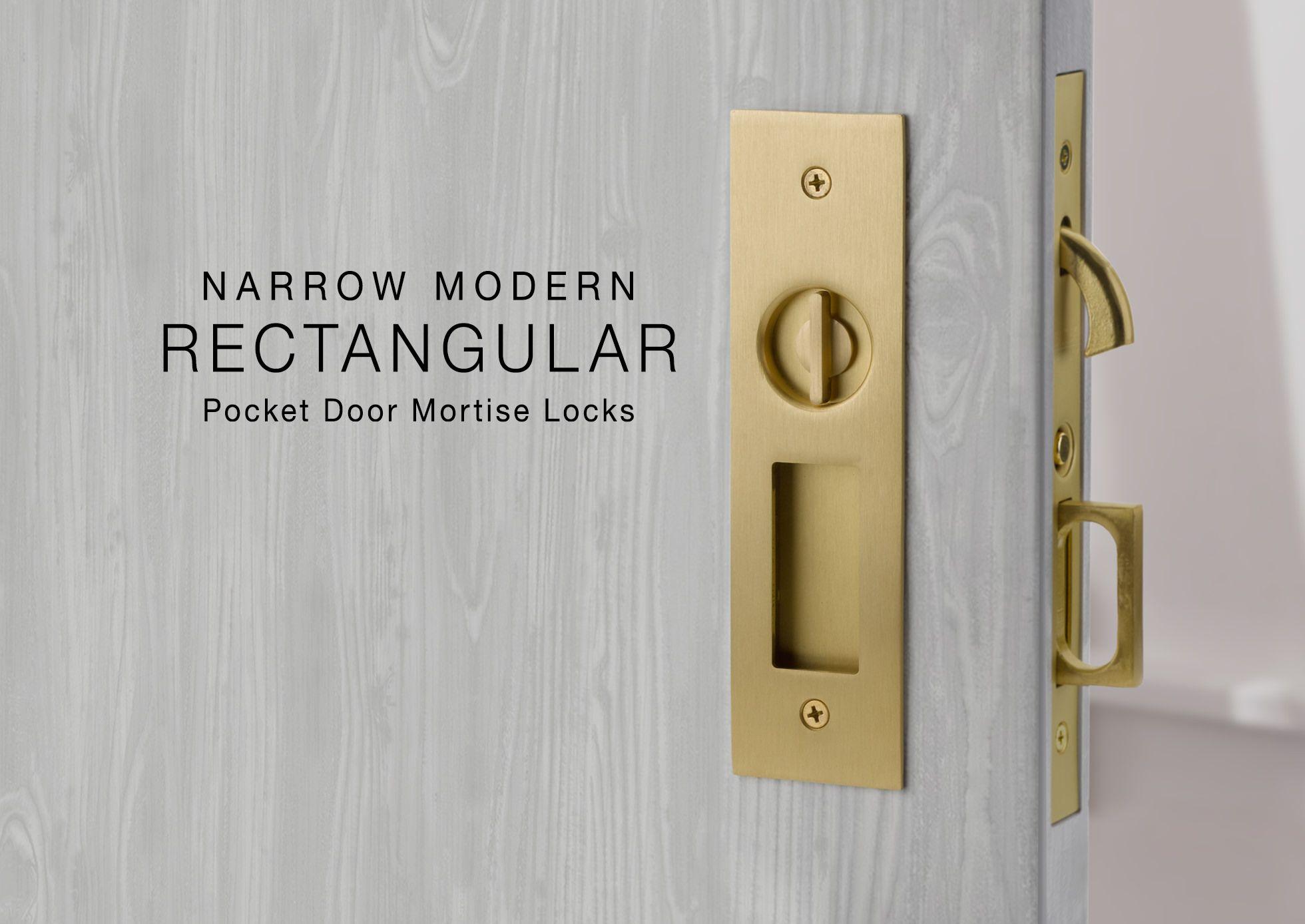 Narrow Pocket Door Mortise Locks Emtek Products Inc Pocket