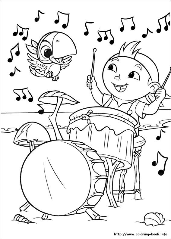 Line Drawings Online Disney Jake And The Neverland Pirates Coloring Sheets About