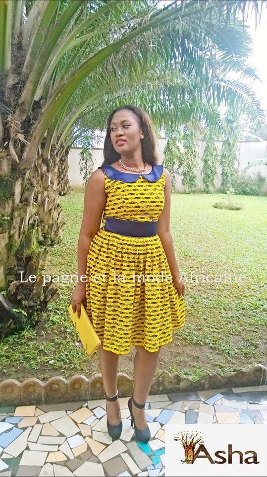 Belle robe en pagne wax africain n°1 : Robe par afro-peps