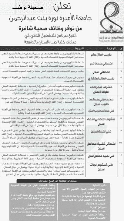 وظائف صحية شاغرة في جامعة الأميرة نورة صحيفة توظيف الالكترونية Health Education New Job Word Search Puzzle