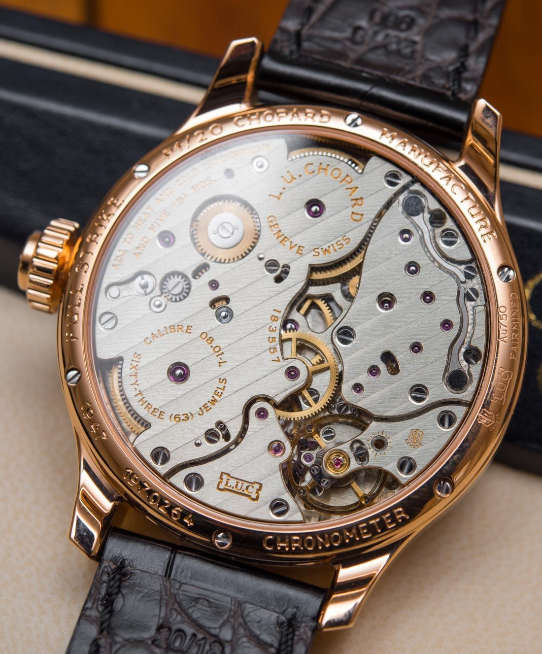 Chopard L.U.C Full Strike Minute Repeater Watch With Sapphire Gongs Hands-On Hands-On