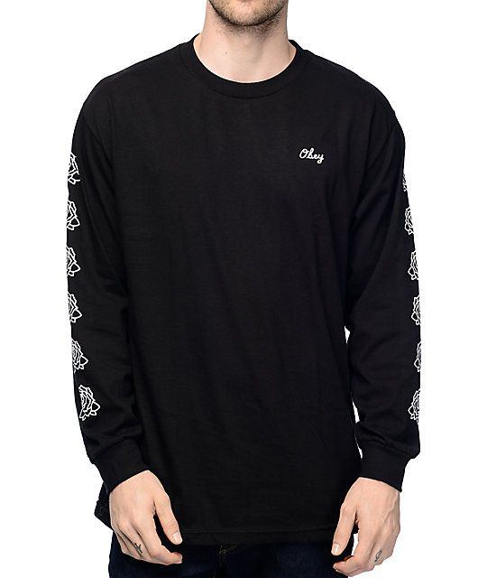 Obey Mira Rosa 2 Black Long Sleeve T-Shirt | Zumiez