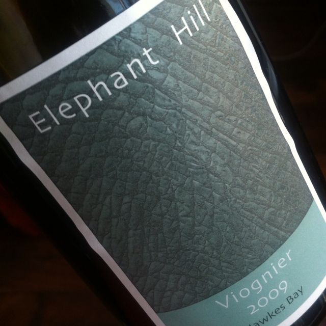 Elephant Hill #viognier 2009 from #newzealand