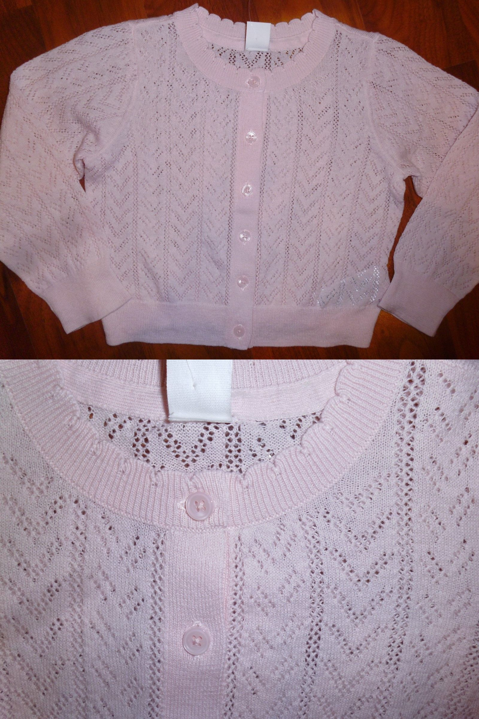 NWT Gymboree Girls White Cable Knit Cardigan Sweater 2T 3T 4T 5T