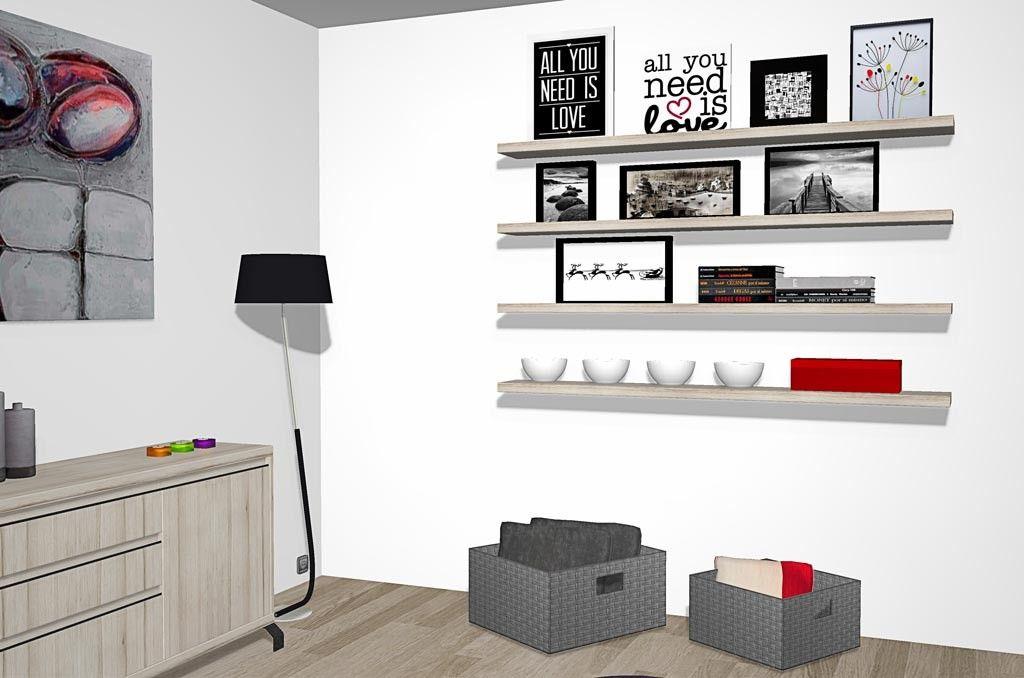 Mira este salón diferente con solo un aparador y estantes | SALON ...