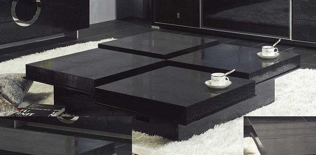 Black Wooden Coffee Table Part - 31: A-x-modern-crocodile-black-coffee-table-8879a-2.