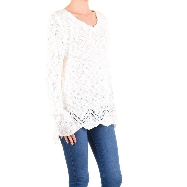 Buy Long Sleeve Ivory Tunic Sweater at Barbara's Boutique for only ...