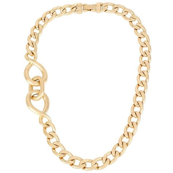 Kenneth Cole New York Jet Set Twisted Link Necklace (2,435 PHP) ❤ liked on Polyvore featuring jewelry, necklaces, gold, gold curb chain necklace, golden jewelry, golden necklace, twist jewelry y oversized necklace