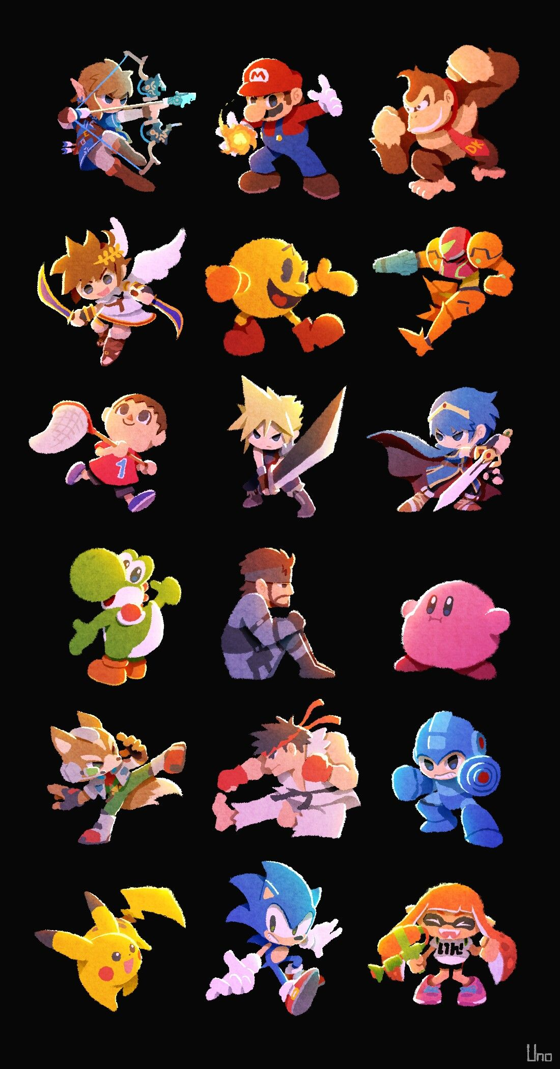 Mega Man Kirby Pikachu And Sonic Are My Favorites Mario Too I
