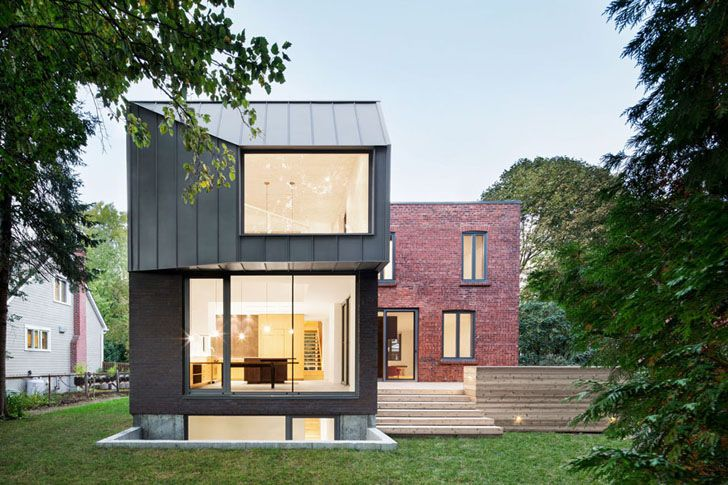 1920s Montreal Home Gets A Sleek Minimalist Addition Thanks To Nature Humaine Architecture In 2020 Architecture Architecture Design House And Home Magazine
