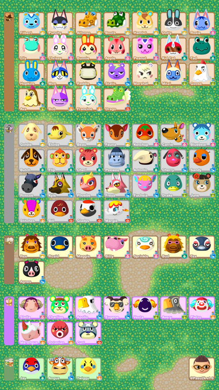 Animal Crossing Pocket Camp Phone Sized Reference Sheet Updated With Wave 6 The Har Animal Crossing Pocket Camp Animal Crossing Pc Animal Crossing Villagers