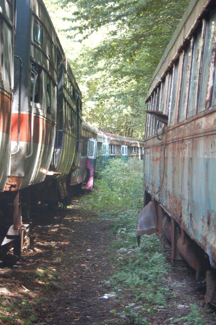 This Abandoned Trolley Graveyard In Pennsylvania Is Terribly Eerie