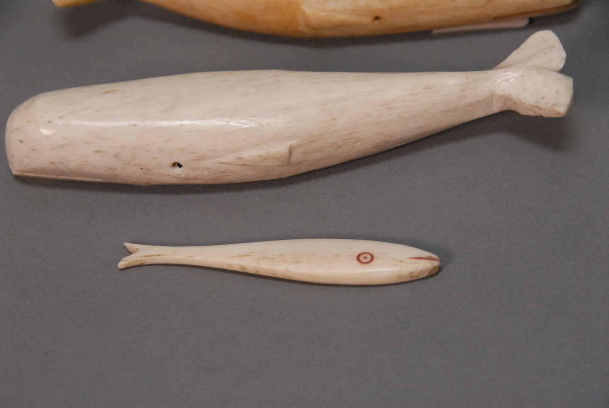 Antique Whalebone Carvings Bone Carving Inuit Art Carving