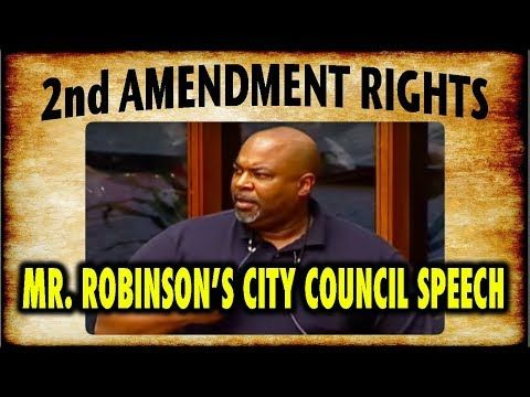 Mark Robinsons Emp Ioned S Ch Defending His Second Amendment Rights At His City Council Meeting You