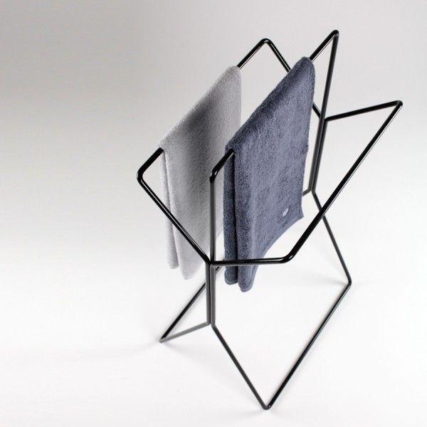 wingman design handtuchst nder und stummer diener wei schwarz bathroom pinterest. Black Bedroom Furniture Sets. Home Design Ideas