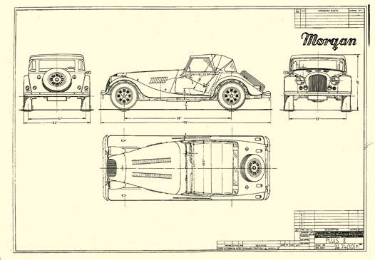 morgan cars line drawings - Google Search | images | Pinterest ...