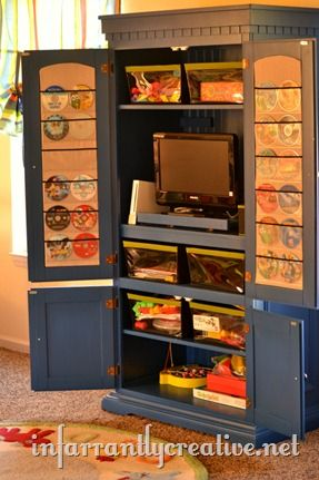 Tv Cabinet Organization Cabinet Organization Toy Cabinet Cupboard Makeover
