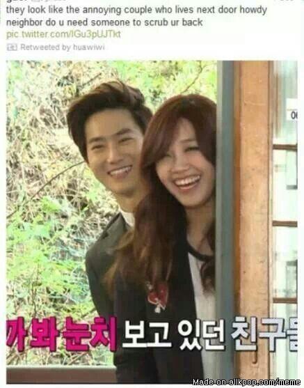 Suho and Eunji laughed a little too hard | allkpop Meme ...
