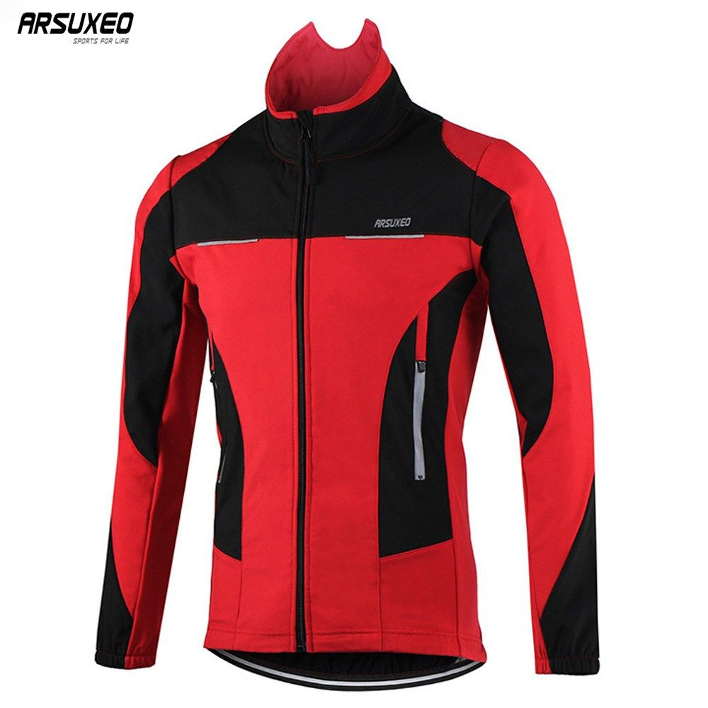 Windproof Mens Cycling Jacket Riding Jersey Winter Thermal Bicycle Warmer Coat