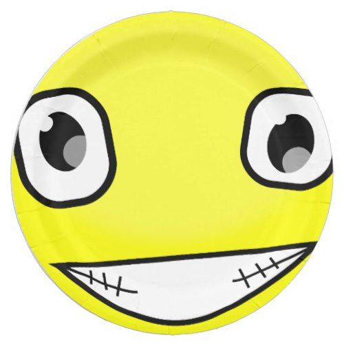 Yellow Smiley Face Laugh Emoticon Birthday Party Paper Plate | Emoji Birthday Party | Pinterest | Yellow smiley face and Birthdays  sc 1 st  Pinterest & Yellow Smiley Face Laugh Emoticon Birthday Party Paper Plate | Emoji ...