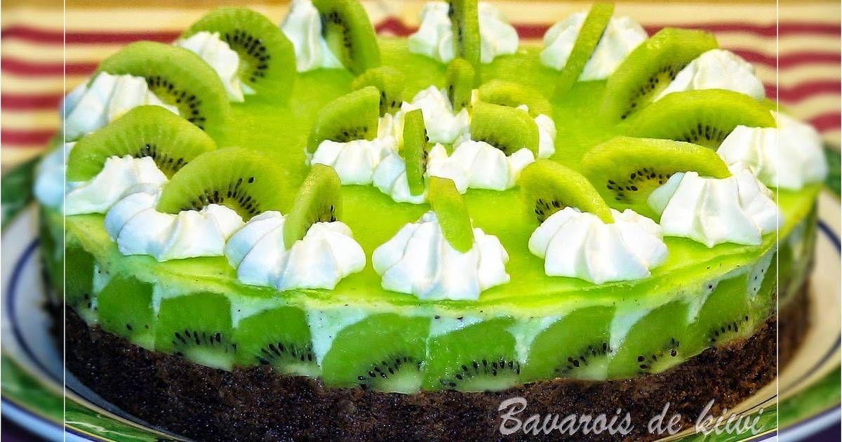 Fabulosa receta para Bavarois de kiwi sobre base de brownie de chocolate. Videoreceta: https://www.youtube.com/watch?v=FRa0gE0TE9Y Una tarta deliciosa y diferente con un aspecto apetecible..