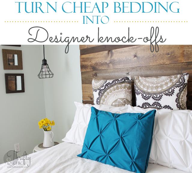 Cheap Do It Yourself Home Decor: Turn Cheap Bedding Into Designer Knock-offs {The Pintuck