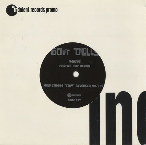 60ft Dolls 60ft Dolls Versus Pastor Ray Bevan Uk Promo 7 Vinyl Single 7 Inch Record 68723 Vintage Vinyl Records Card Sleeve Vinyl Records