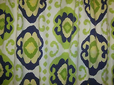 Shower Curtain Home Target 72x72 Lime Green Yellow Navy Blue White