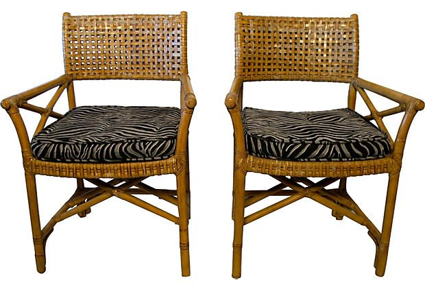 Explore Pattern Fabric, Vintage Market And More! Rawhide McGuire Chairs ...
