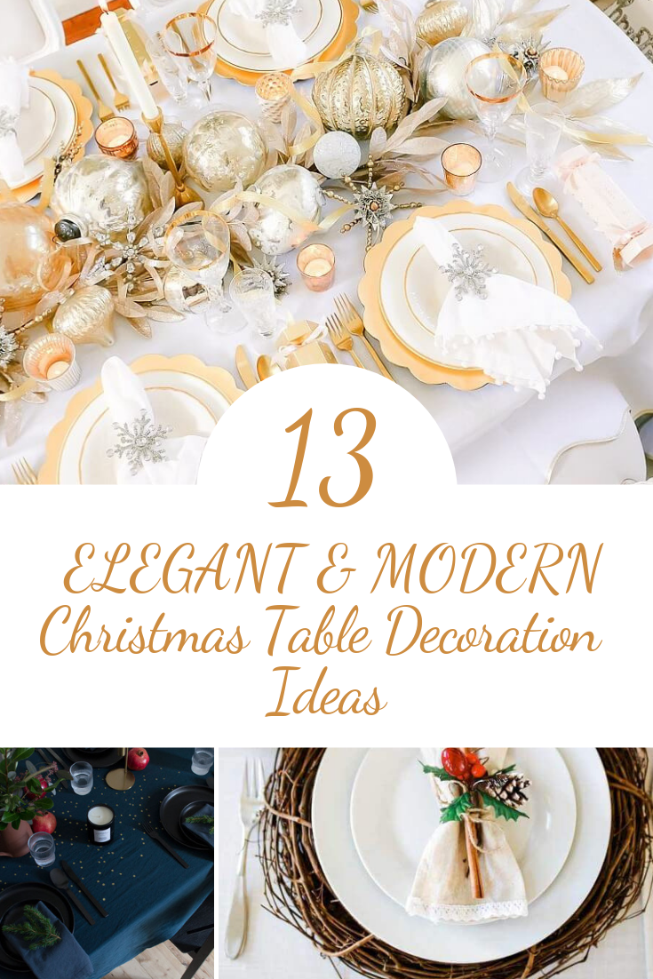 Photo Shoot Ideas For Mother And Daughter Modern Christmas Christmas Table Decorations Christmas Table Settings