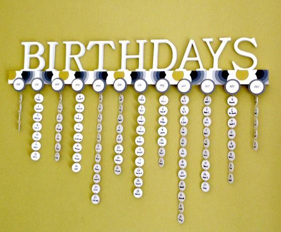 Diy family calendar never forget a birthday again diply