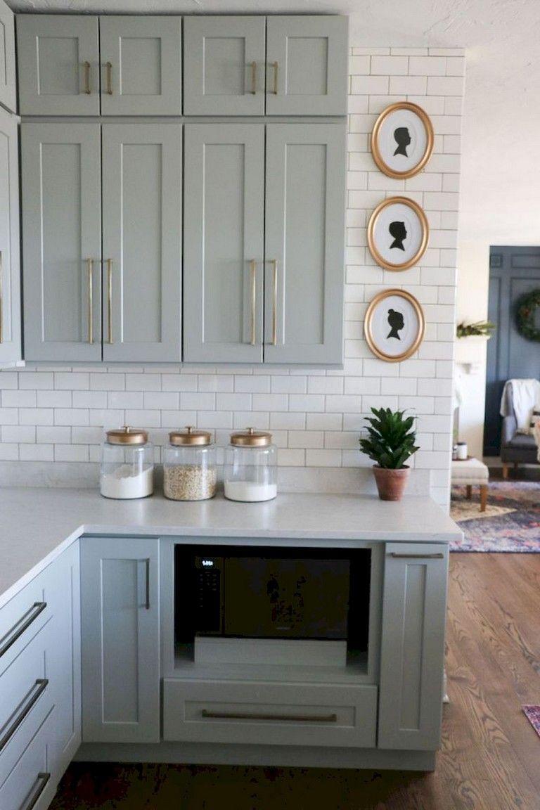 Easy Design for Farmhouse Gray Kitchen Cabinets Ideas # ...