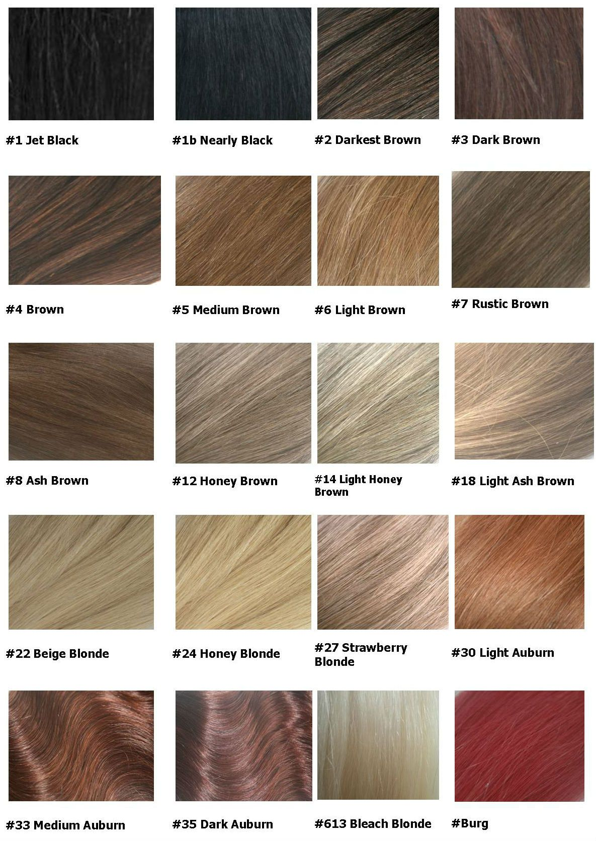 hair colour chart 2016
