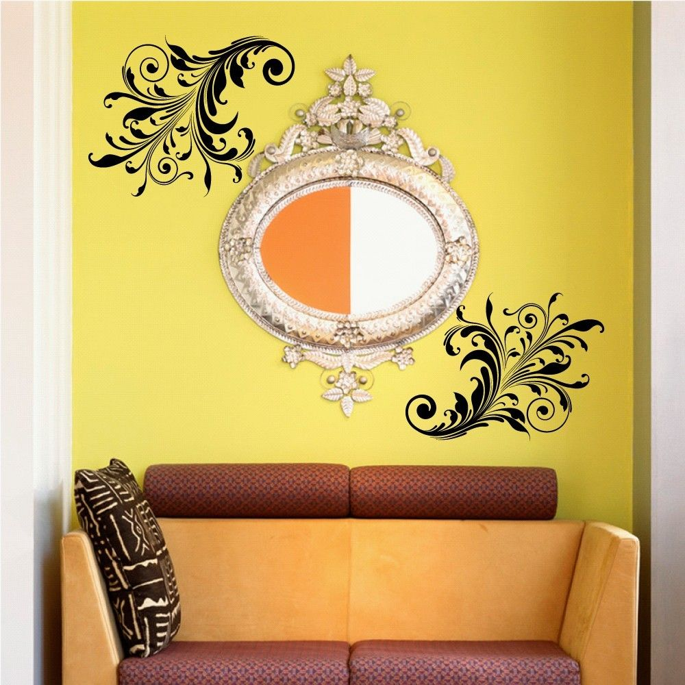 Damask Wall Decal - Damask - Bedroom Decor - Bedroom Wall Decor ...