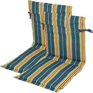 Plantation Patterns Ocean Stripe Patio Sling Chair Cushion (2 Pack) 7723