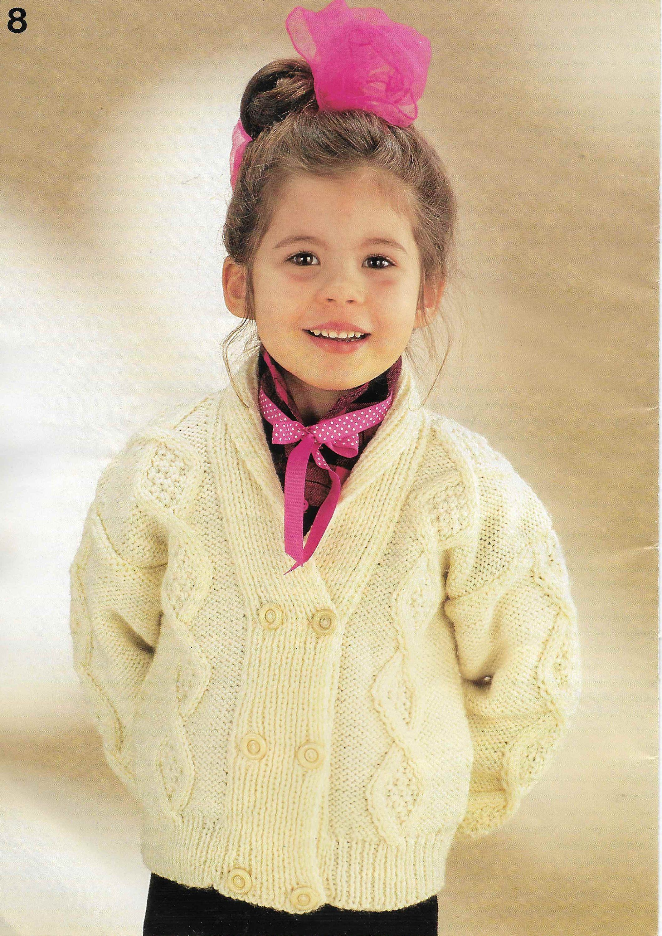 Lovely aran knitting pattern for baby//child/'s jackets 20-28 inch