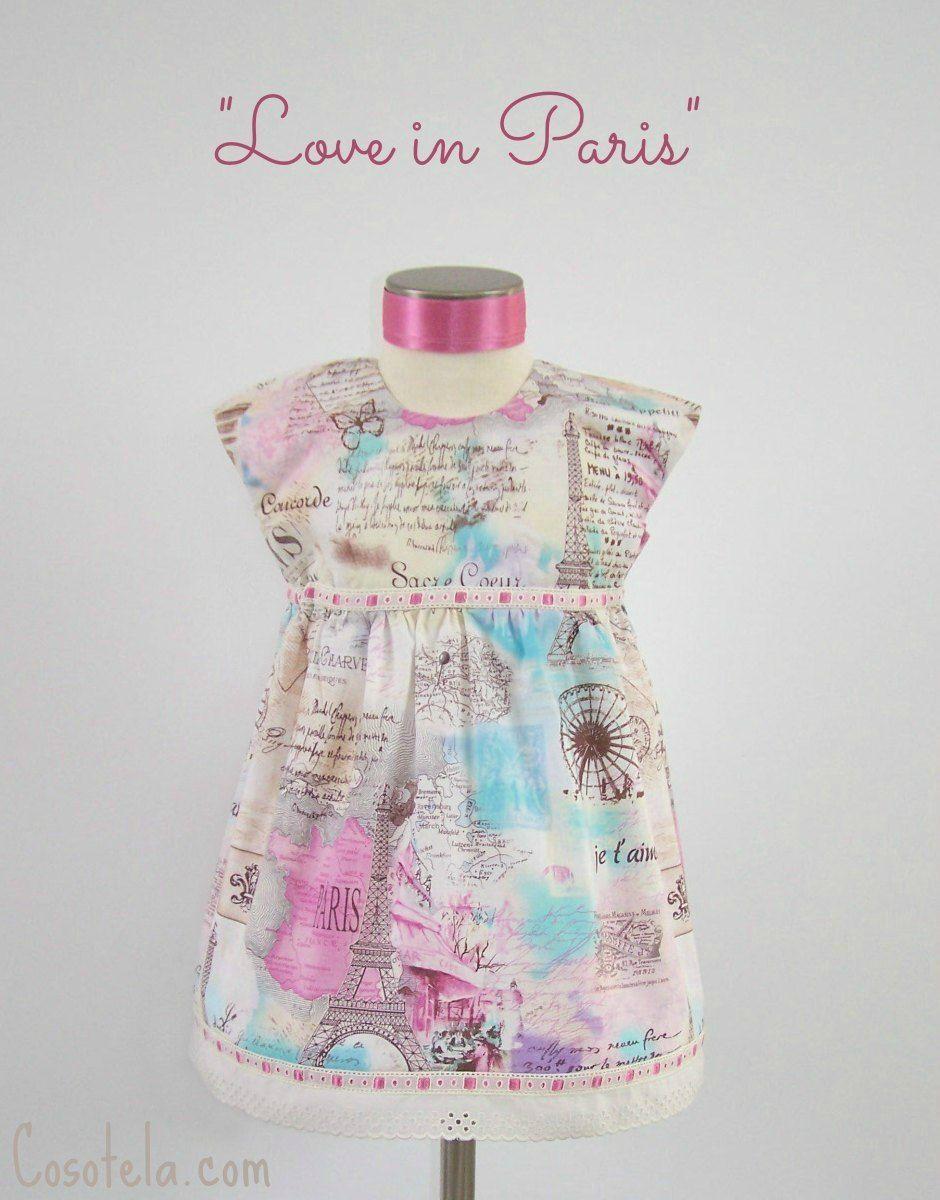 Vestido de París con tela de Timeless Treasures. Modelo geranium ...