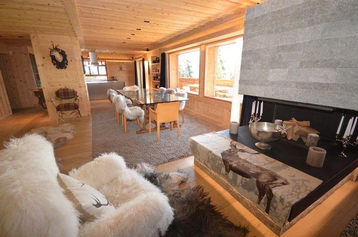 Chalet Valpetra A   Architecture Verbier #architecture #chalet #pierre  #luxe #grotte #animaux #intérieur #montagne #verbier #switzerland  #martinmicu2026