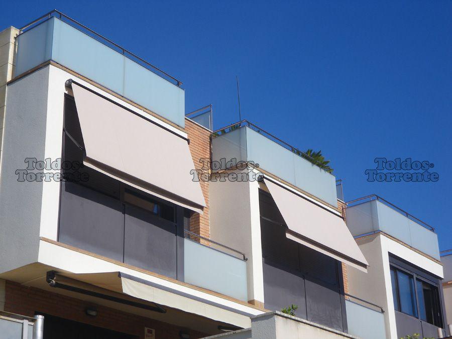 Toldos para ventana cofre punto recto toldos barcelona en 2019 pinterest cobertizo - Toldos terrazas precios ...