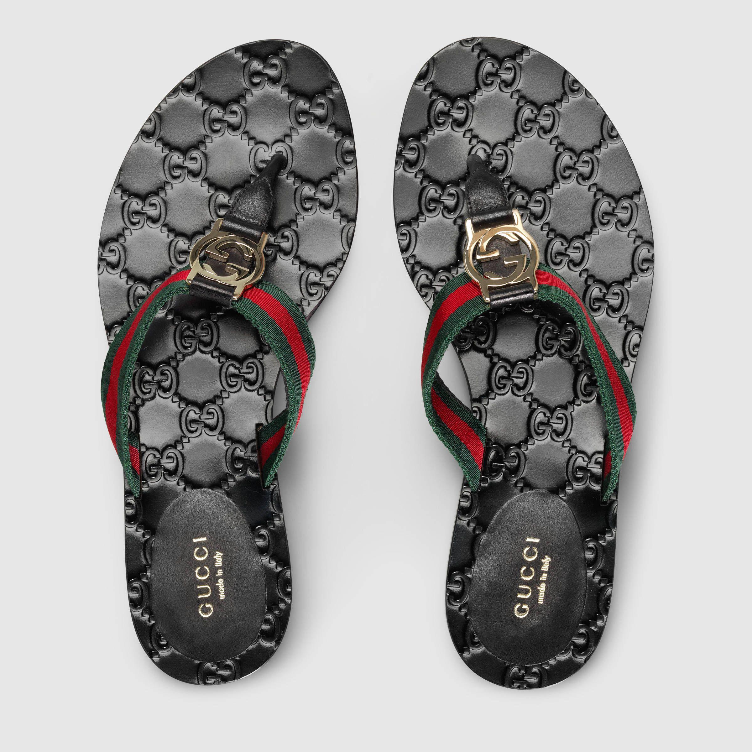 a2b63aeef Gucci GG thong Web sandal Detail 3